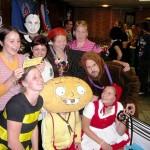 Participants on the masquerade ball at Academy 2009