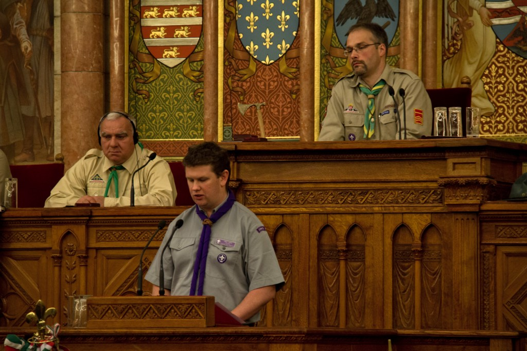 Craig Turpie congratulates Hungarian Scouting on 100 years
