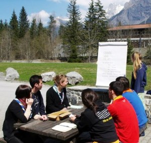 A workshop at last year's Agora in Kandersteg
