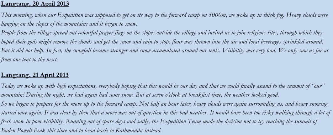 From the 2013 Expedition's diary