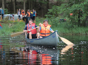 Liechtenstein Scouts enjoying Camp-in-Camp in Sweden 2011
