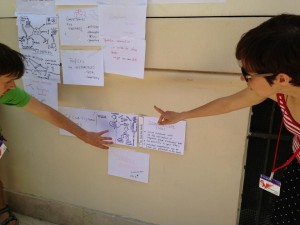 Sharing outcomes of workshop sessions