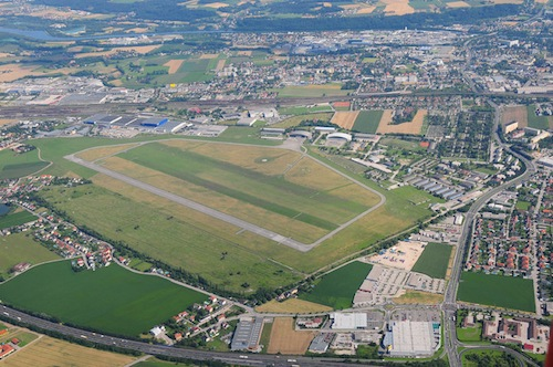 The airfield in Wels (Austria)