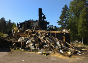 Fire out: only rubbish and ruins remain