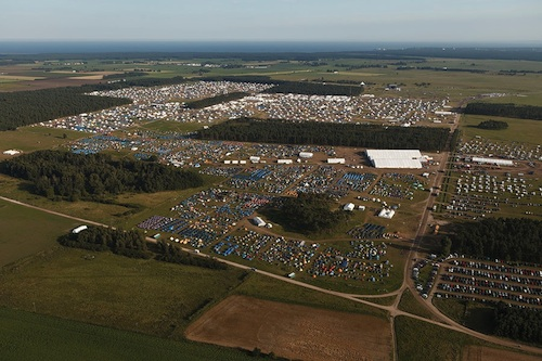 Aerial View of the 22nd World Scout Jamboree (Sweden 2011)
