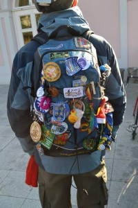 On the Road: special project backpack with souvenirs from each PPÖ Group visited so far