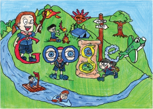 Emma's entry in this year's Google Doodle drawing competition in Ireland