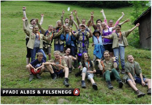 Le Groupe Scout Albis & Felsenegg en camp d'été