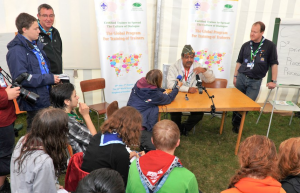 Exchanges with Donor Representatives during the World Scout Jamboree 2011 in Sweden