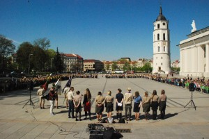 Opening of the Saint George's Day Activities on Cathedral Square in Vilnius