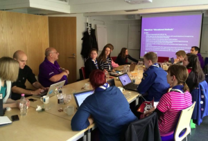 One of the meetings at Partio's Headquarters in Helsinki