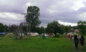 The camp ground at Nocrich Scout Centre