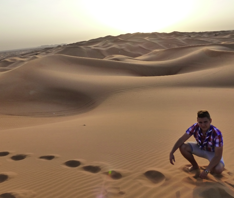 The Arabian Desert: Sand. Sand. Sand. And more sand.