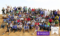 "The traditional ""Family Photo"" – Rover Scouts from around the world"