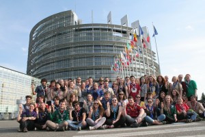 The Agora 2014 Family Photo in front of the EU Parliament in Strasbourg