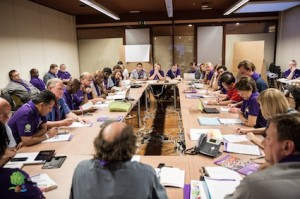 The World Scout Committee 2014-2017 during its first meeting