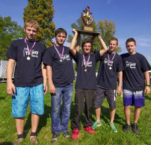 Scouts from 5th Troop of Vydří stopa Vysoké Mýto, the 2014 winners of the Hugo Sedláček Cup in the Rover Category