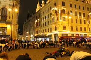 Just another image of Scouting in the public: a flash mob in the Old Town of Prague