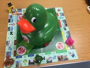 Saffron the Duck raising funds for Unit 62