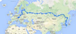A long way: 13000 kilometres from Brno (CZ) to Yamaguchi (JP)