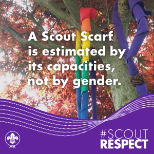 A Scout Scarf is estimated by its capacities, not by gender.