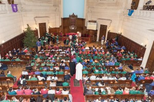 The Peacelight arrives at the Ecumenical Service in Paris on Sunday morning (image: EEUDF)