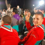 Scouts on the Algerian national TV shooting