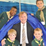 Conservative MP David Amess with cub scouts. Image: Christopher Parkes